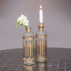 Bottle candle holder
