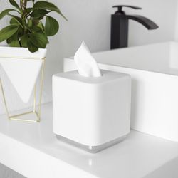 JUNIP TISSUE BOX CHRM/WHT