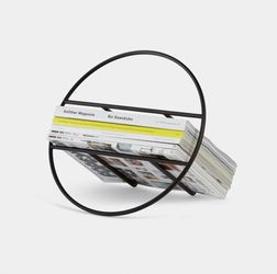 HOOP MAGAZINE RACK BLACK