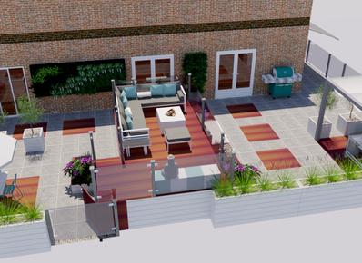Tuinontwerp 3d inspiratie standaard tuin voorbeelden for Tuinontwerp kleine tuin strak