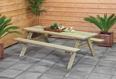 Zelf een picknicktafel maken van hout - Zo moet het!