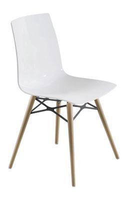 Lunde X design eetkamerstoel wit