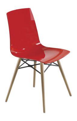 Lunde X design eetkamerstoel rood