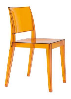 Spark designstoel transparant oranje