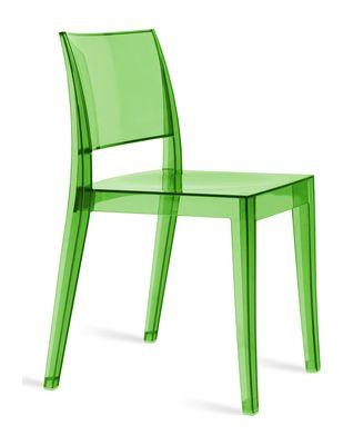 Spark designstoel transparant groen