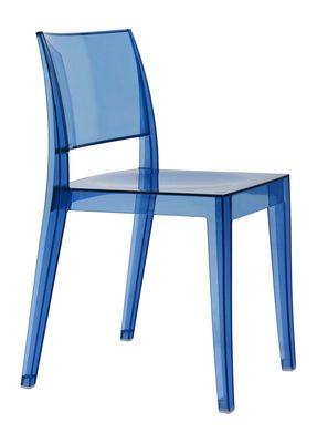 Spark designstoel transparant blauw