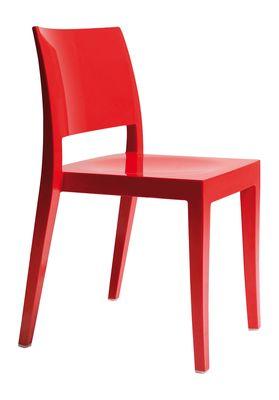 Spark designstoel rood