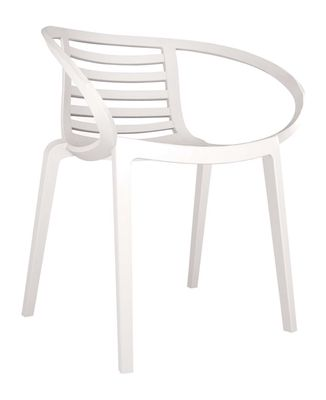 Cuba stapelbare stoel wit