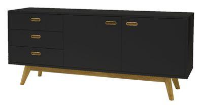 Falde dressoir zwart 170 cm