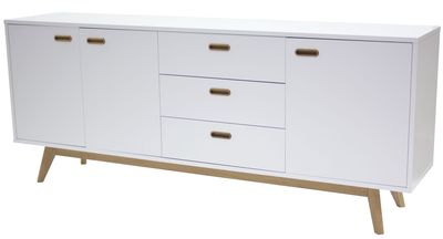 Falde dressoir wit 200 cm