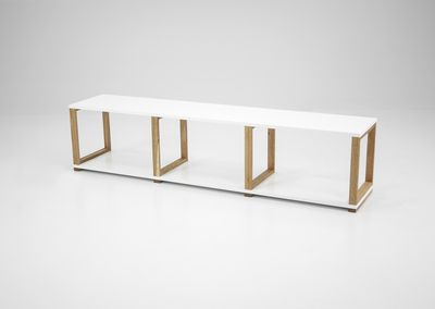Valle open wandkast met 3 vakken wit/eiken