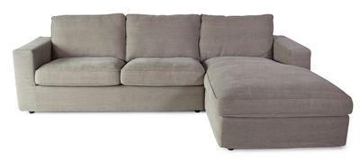Springfield hoekbank 2-zits+divan rechts grijs