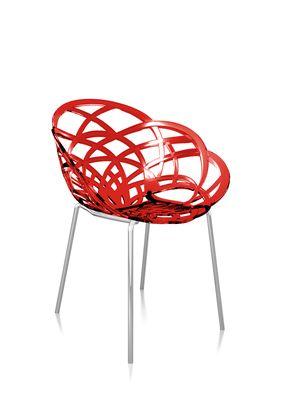 Svane Spaans design stoel donkerrood