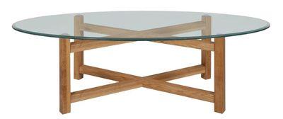 Nas ovale salontafel transparant