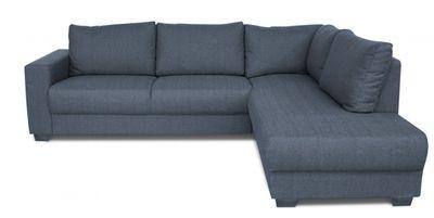 Montour hoekbank 2,5-zits+longchair rechts blauw grijs