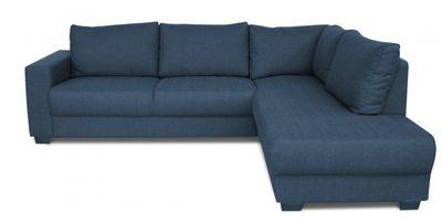 Montour hoekbank 2,5-zits+longchair rechts navy blauw
