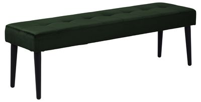 Eettafelbank Frederica 140 cm in groene velours stof