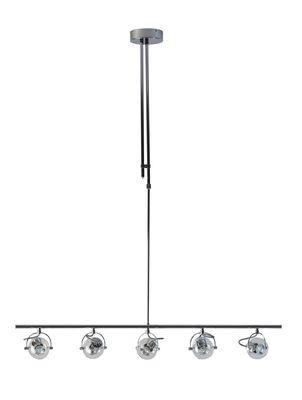 Expo Trading hanglamp Vetro met 5 glazen kapjes