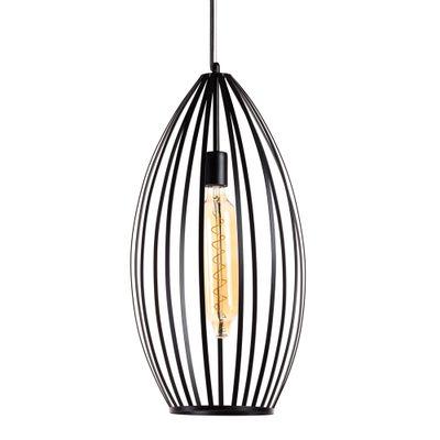 ETH Expo Trading hanglamp Coletta wire zwart metaal 32 cm