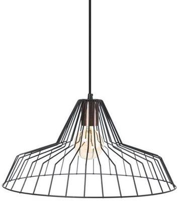 Hanglamp Starfish zwart met koper accent