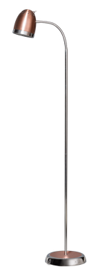 Harley vloerlamp 1-lichts koper
