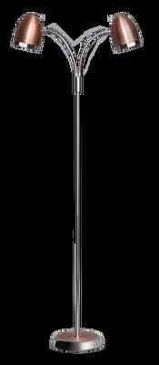 Harley vloerlamp 2-lichts koper