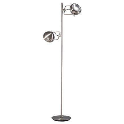 Vloerlamp Head 2.0 mat chroom 2-lichts