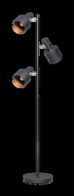 Sledge vloerlamp zwart met 3 verstelbare kappen