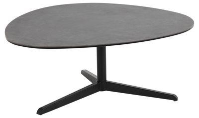 Felsted salontafel met eivormig grijs/zwart keramiek blad