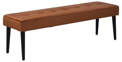 Eettafelbank Frederica 140 cm in koperkleur velours stof