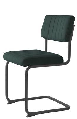 Buisframe stoel Barney velvet stof groen