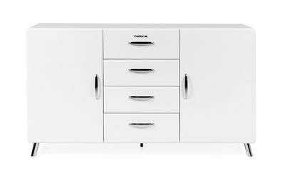 Kirby dressoir 2 deuren-4 laden wit