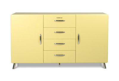 Kirby dressoir 2 deuren-4 laden geel