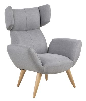 Fauteuil Agersted in grijze stof