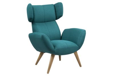 Fauteuil Agersted in petrol stof