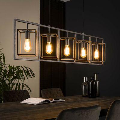 Hanglamp Derenburg met 5 open kappen