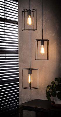 Hanglamp Detmold met 3 open kappen