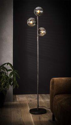 Vloerlamp Freilassing met 3 bolle lampenkappen