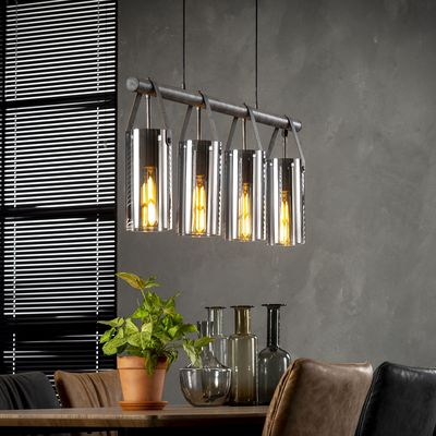 Hanglamp Dettelbach van chromed glas