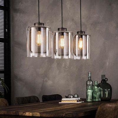 Hanglamp Dietenheim van raster-glas