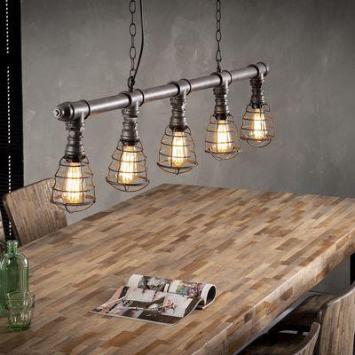 Hanglamp Donzdorf van waterleidingbuis