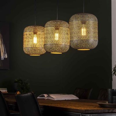 Hanglamp Dresden van gelaserd metaal