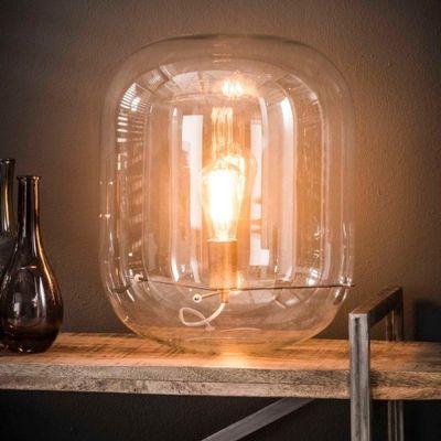 Tafellamp Beelitz met bolle glazen kap