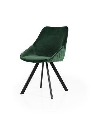 Eetkamerstoel Jursla in groene velours stof