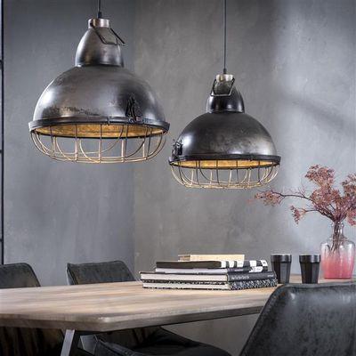 Hanglamp Eisenach van industriëel metaal