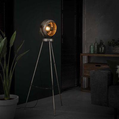 Vloerlamp Friedberg met open metalen armatuur
