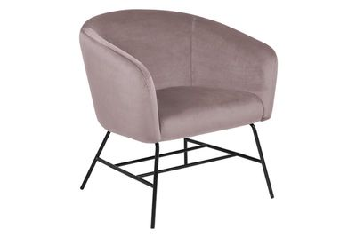 Fauteuil Endrup in rose velours