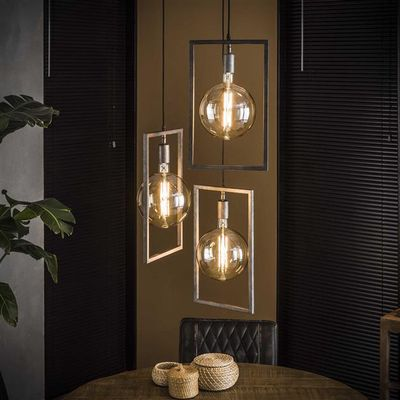 Hanglamp Eltmann in 3 metalen frames