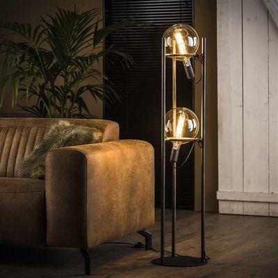 Vloerlamp Friesoythe van industrieel metalen buizen