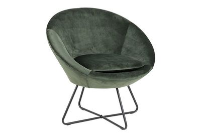 Aulum fauteuil donkergroene stof